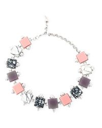 Eshvi | Metallic Geometric Beaded Necklace | Lyst