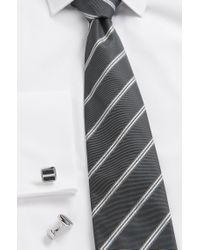 BOSS Black Square Cufflinks In Brass: 'robert' for men