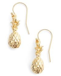 Ki-ele | Metallic 'hawaiian Pinya' Drop Earrings | Lyst