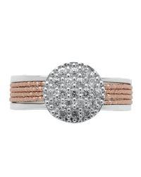 Links of London - Metallic Celeste Pave Rose Gold Ring - Lyst