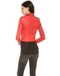 IRO - Red Luiga Leather Jacket - Lyst
