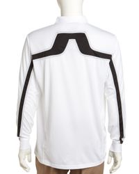 J.Lindeberg - Vilde Longsleeve Mesh Golf Shirt White Xl for Men - Lyst