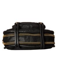 She + Lo - Black Rise Above Zip Crossbody - Lyst