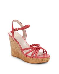 Vince Camuto - Pink Trudy Braided Strappy Cork Wedge Sandals - Lyst
