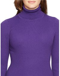 Lauren by Ralph Lauren | Purple Plus Turtleneck Sweater | Lyst