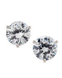 Fantasia by Deserio Multicolor Martini-cut Rhinestone Stud Earrings
