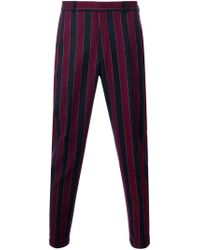 Carven - Blue Striped Tailored Trousers for Men - Lyst
