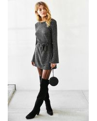 Motel - Metallic Suhaila Lurex Dress - Lyst