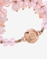 Ted Baker Pink Cluster Bead Bracelet