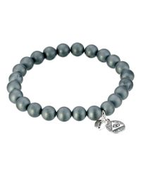 Chan Luu | Gray 7 1/2' Matte Hematine Stretchy Single Bracelet for Men | Lyst
