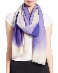 Eileen Fisher | Purple Silk-blend Scarf | Lyst