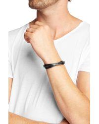 HUGO Black Exclusive Leather Bracelet 'E-Speed' for men