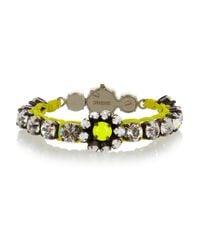 Shourouk   Metallic Baraka Flower Silver-plated Swarovski Crystal Bracelet   Lyst