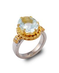Emma Chapman Jewels | Metallic Alyce Aquamarine Ring | Lyst
