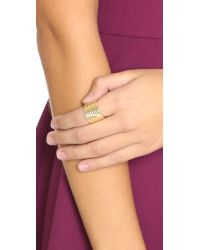 Elizabeth and James - Metallic Vago Ring - Gold/clear - Lyst