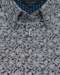 Ted Baker | Black Floral Printed Sport Shirt for Men | Lyst