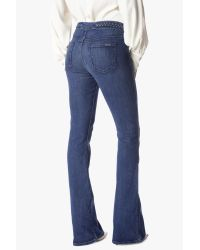 7 For All Mankind Blue Braided High Waist Flare