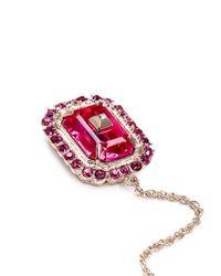 Valentino | Pink Chain Helix Cuff Single Rhinestone Earring | Lyst