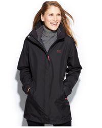Helly Hansen Black Aden Long Hooded Raincoat