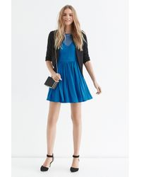 Oasis - Blue Lace Trim Soft Skater - Lyst