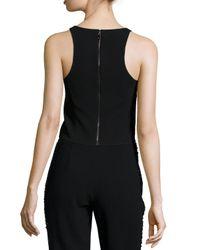 Sachin & Babi - Black Sleeveless Zip-back Crop Top - Lyst