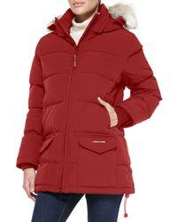 Canada Goose | Black Solaris Fur-hood Parka Coat | Lyst