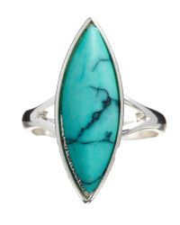 ASOS - Blue Oval Stone Ring - Lyst