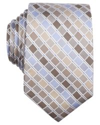 Perry Ellis | Brown Stolk Geo Slim Tie for Men | Lyst