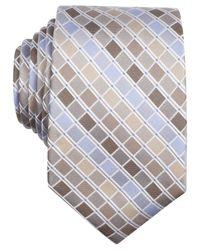 Perry Ellis - Brown Stolk Geo Slim Tie for Men - Lyst