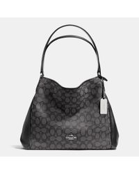 COACH | Gray Edie Shoulder Bag 31 In Signature Jacquard | Lyst