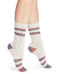 Free People | Multicolor Flecked Crew Socks | Lyst