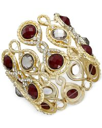 INC International Concepts | Gold-tone Purple Stone Stretch Bracelet | Lyst