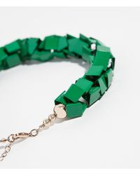 Zara | Green Metallic Necklace | Lyst