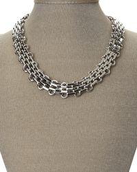 T Tahari | Metallic Silver-Tone Intertwined Necklace | Lyst