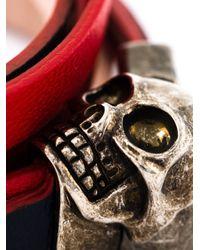 Alexander McQueen   Blue Wrap Around Skull Bracelet   Lyst