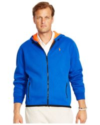 Polo Ralph Lauren | Blue Big & Tall Fleece Full-zip Hoodie for Men | Lyst