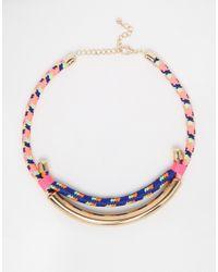 Monki | Multicolor Dagny Double Row Torque Necklace | Lyst