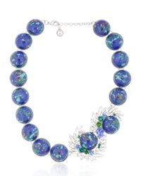 Shourouk | Marble Blue Necklace | Lyst