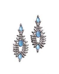 DANNIJO | Blue Alessia Earrings | Lyst