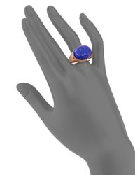 Tory Burch - Blue Lapis Signet Ring - Lyst
