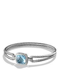 David Yurman | Albion Bracelet With Diamonds And Blue Topaz | Lyst