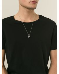 DSquared² - Metallic Multi Charm Silver Necklace for Men - Lyst