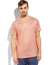 Weatherproof | Orange 32 Degrees Stripe V-Neck Tee for Men | Lyst