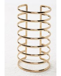 Forever 21   Metallic Caged Arm Cuff   Lyst