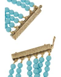 Rosantica - Blue Amanda Golddipped Turquoise and Angelite Necklace - Lyst