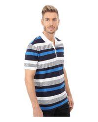 Lacoste | Blue Short Sleeve Pique Stripe Polo for Men | Lyst