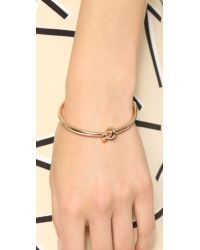 kate spade new york Pink Sailor's Knot Bangle Bracelet