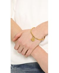 Kate Spade | Metallic Charm Letter Bangle Bracelet | Lyst