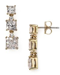 Nadri - Metallic Triple Square Drop Earrings - Lyst