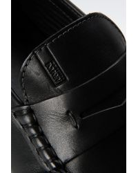 Armani - Black Leather Loafer for Men - Lyst